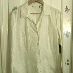 NWT Liz Claiborne Size 16 White Tailored Shirt